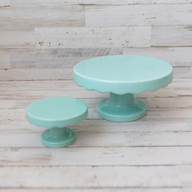 Teal Cake Stands