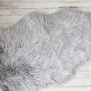 Gray Background Rug
