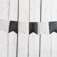 Black & White Pennant Banner