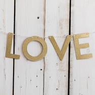 Gold Love Banner
