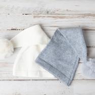 Gray and White Newborn Hats
