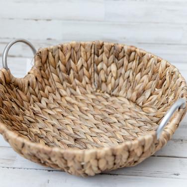 Circle Wicker Basket