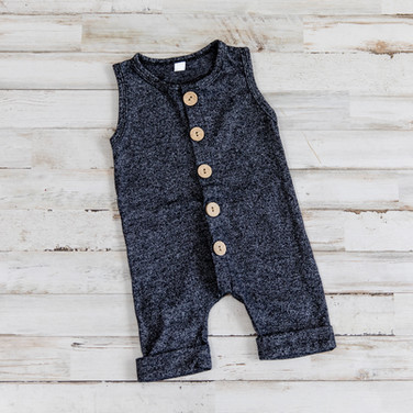 Gray Jumper with Wood Buttons
