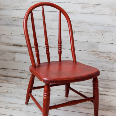 Red Wood Chair