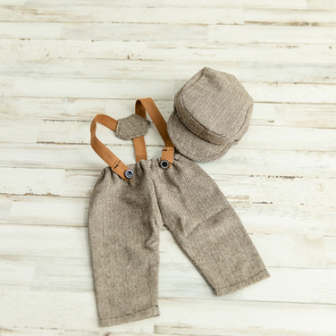 Baby Overalls and Hat