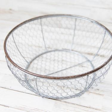 Circle Chicken Wire Basket