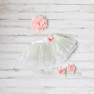 Baby Girl White Dress with Headband