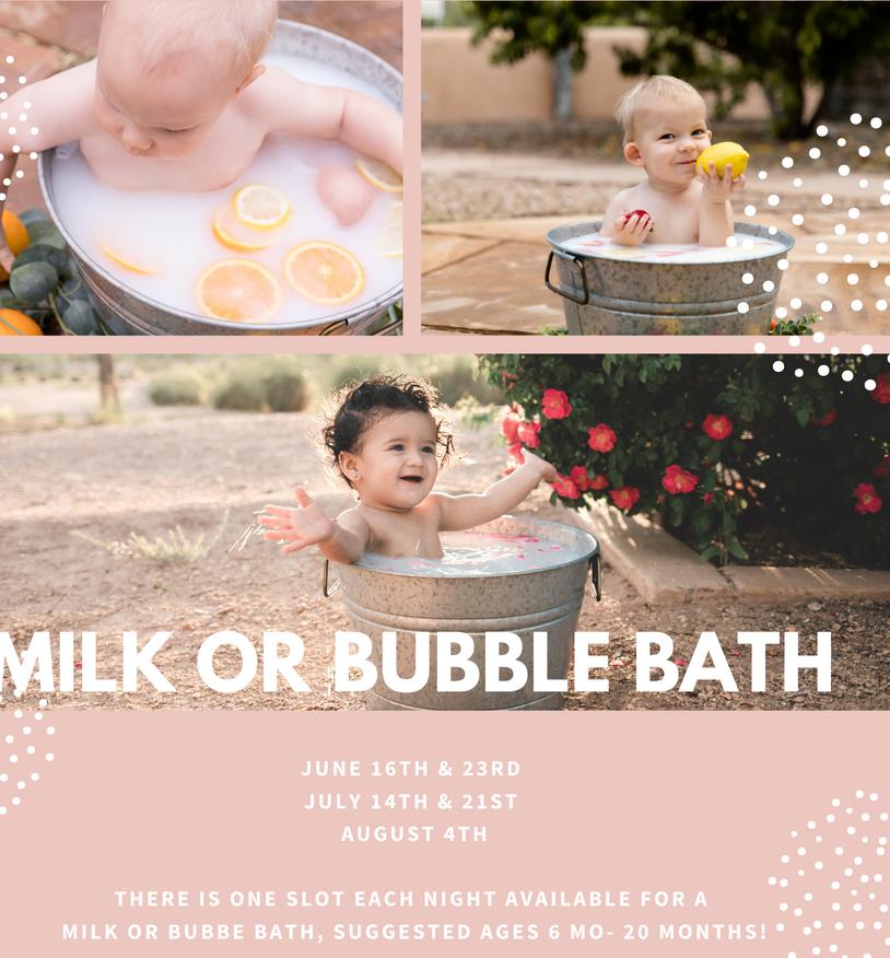 Milk or Bubble Bath