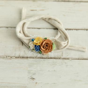 Newborn floral headband