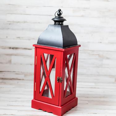 Red Wooden Lantern