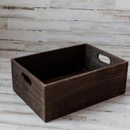 Dark Wooden Crate