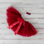 Red Baby Skirt with Headband