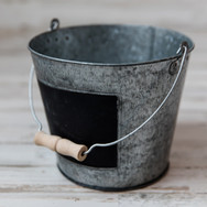 Small Metal Pail with Chalkboard