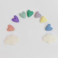 Rainbow Baby Hearts