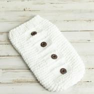 Newborn knit sac