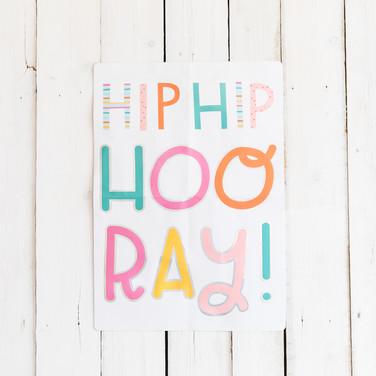 Hip Hip Hooray Sign