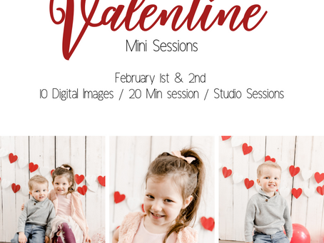 Love is in the AIR! {Valentines Day Mini's are LIVE!}