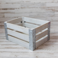 Small White Wooden Crate