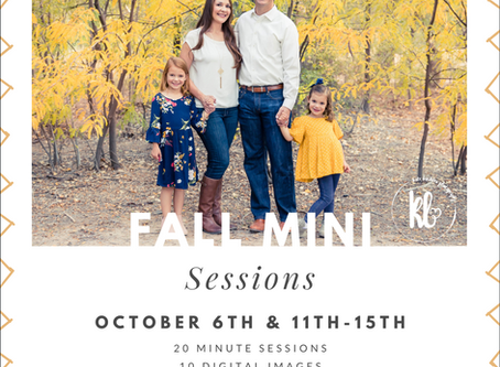 Fall Mini Sessions are HERE!!