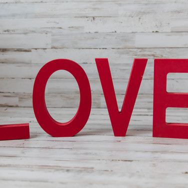 Red Wooden Love Letters