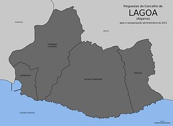 Mapa Cidade Lagoa Algarve Taxi Arade