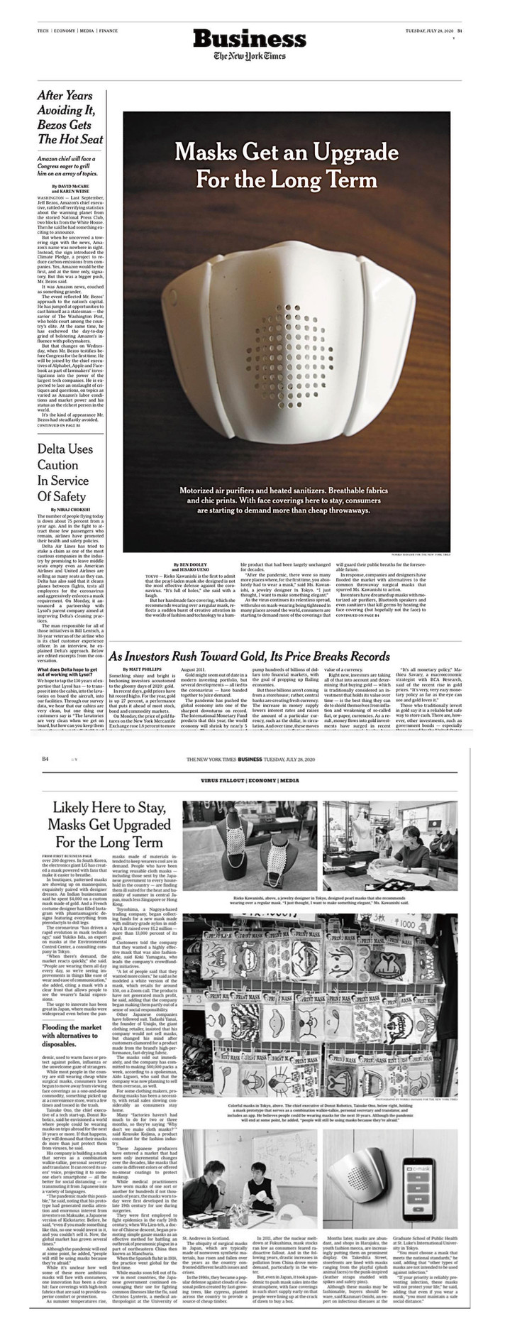 Published to the world with the [ New York Times ].