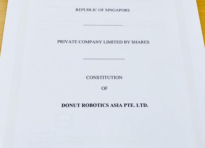 シンガポール法人 設立。