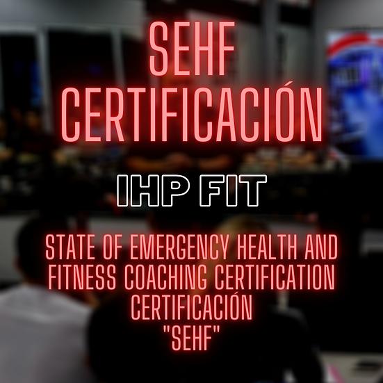 Certificación de estrategias para salud y fitness durante estados de emergencia.