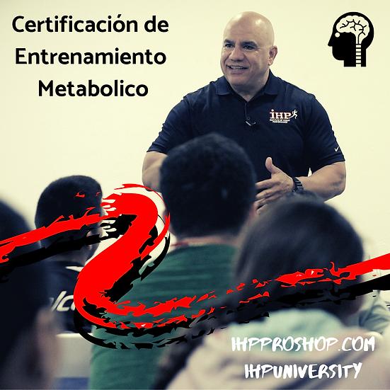 Certificación de Entrenamiento Metabolico