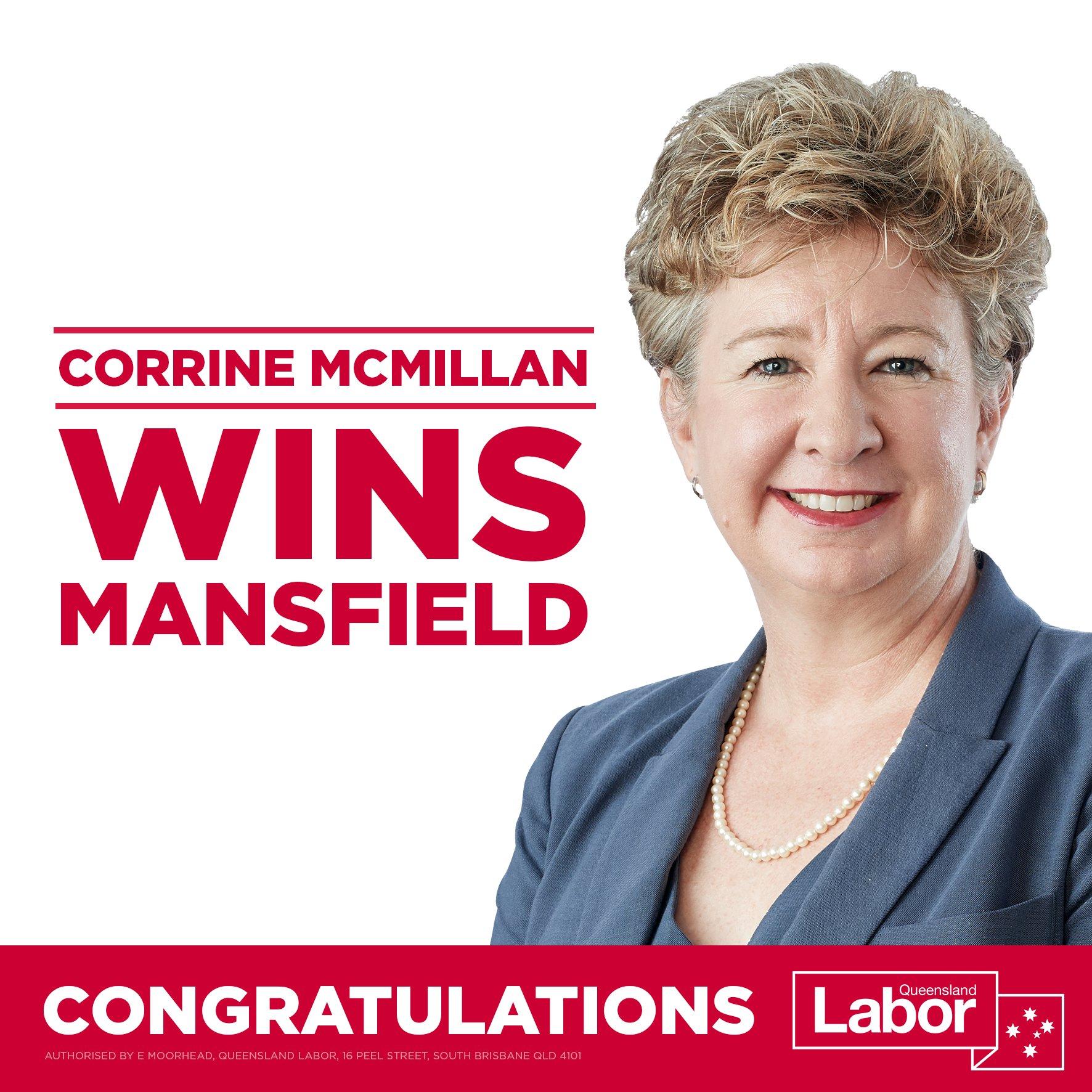 Corrine McMillan; Member for Mansfield