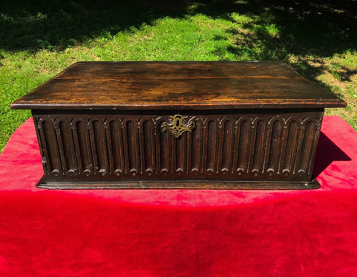 17th Century Charles II Oak Bible Box