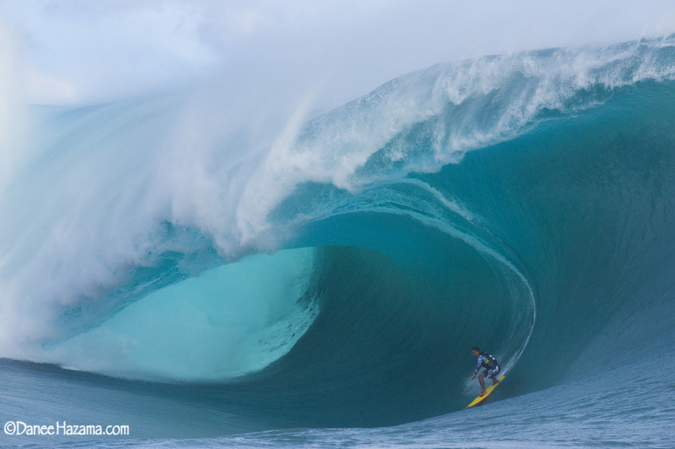 Manoa Drollet at Teahupoo, Tahiti
