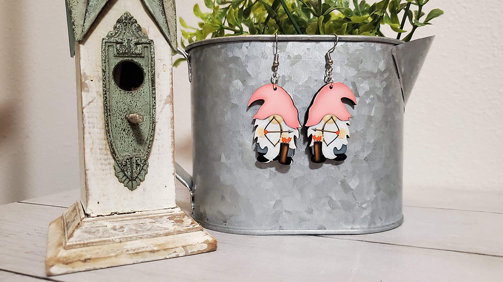 Cupid Gnome Earrings