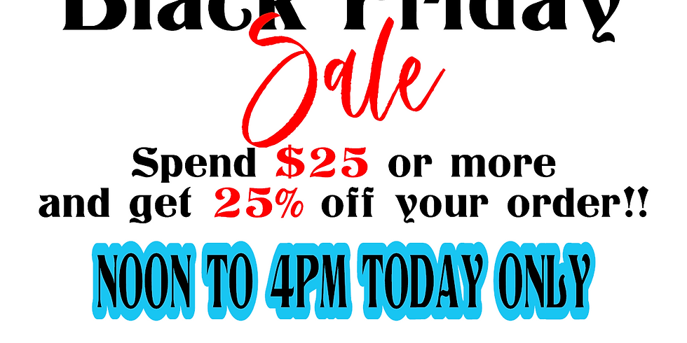 Our First Black Friday Sale