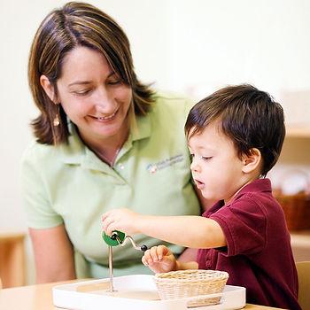 Eye hand coordination Montessori Toddler Lesson