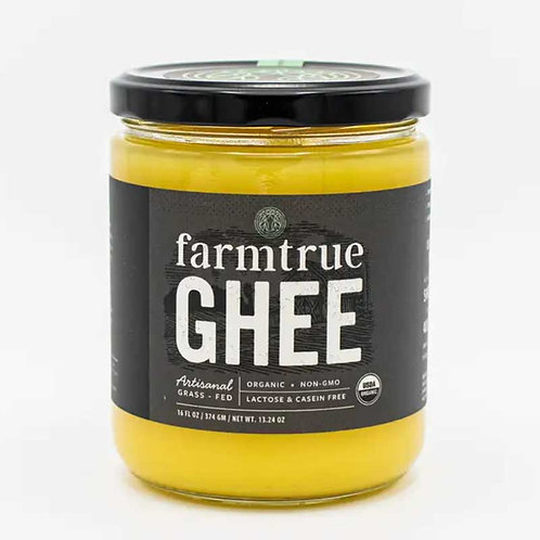 Grass-fed Organic Ghee 16 oz (Farmtrue)