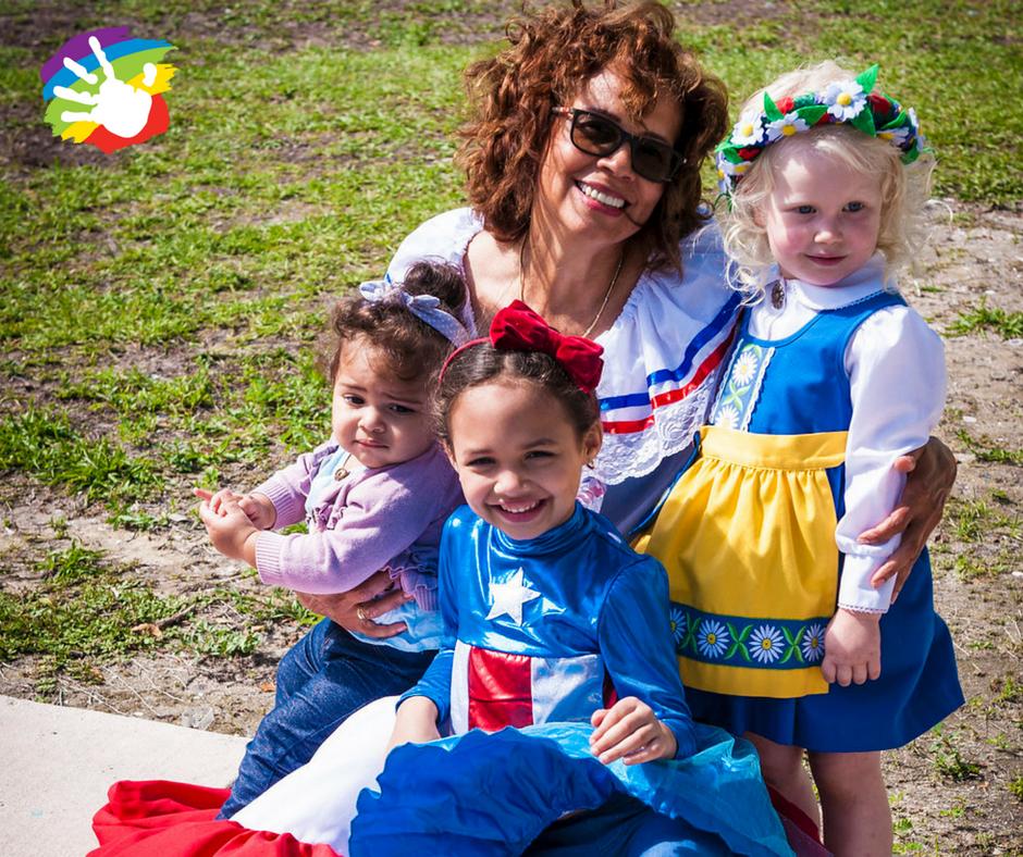 International Day celebration at Village Montessori Family picnic.