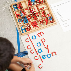 Spelling words with the movable alphabet