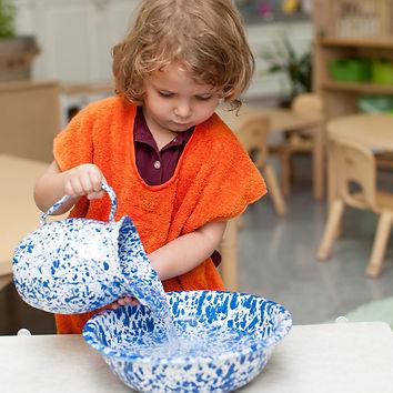 Montessori Pouring Lesson