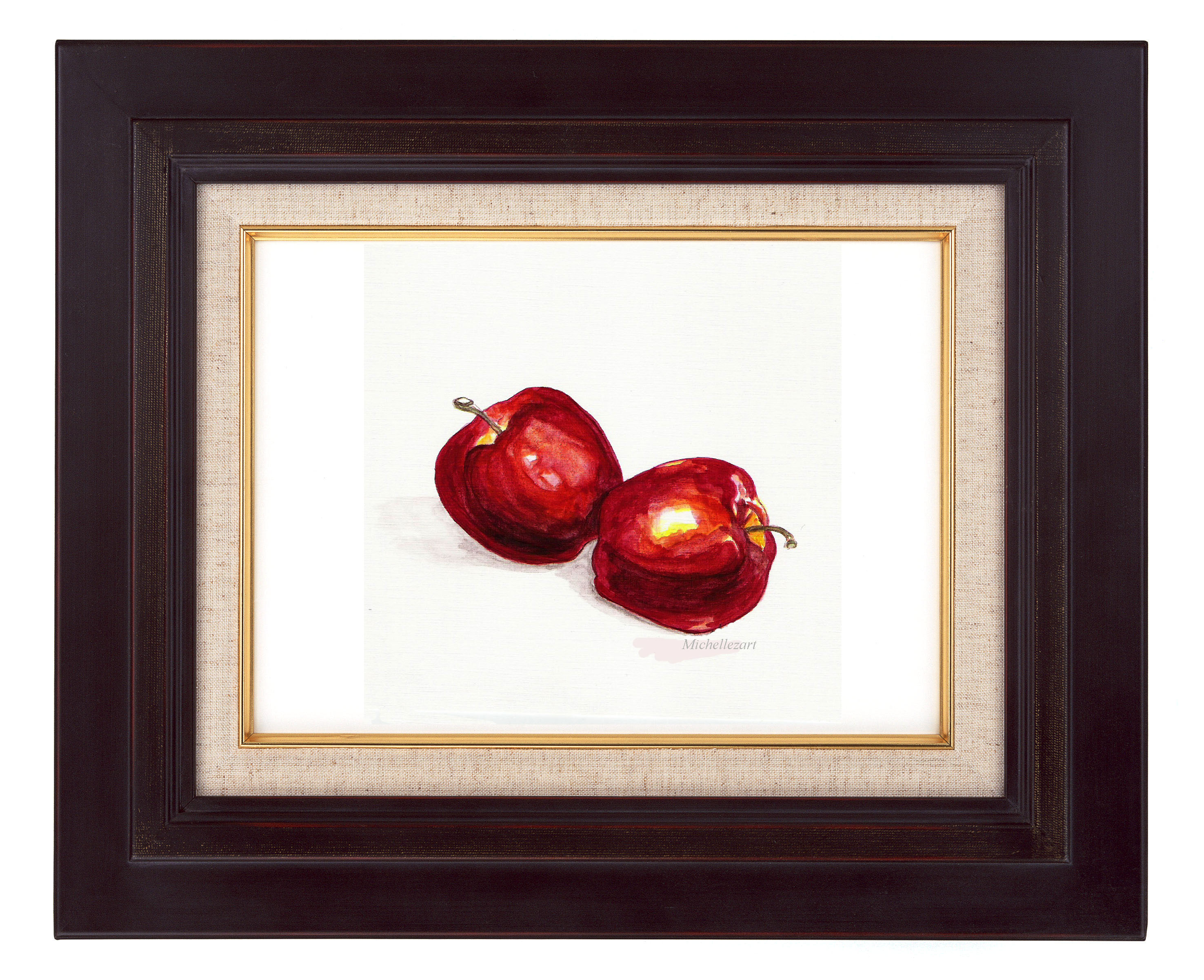 2 Red Apples