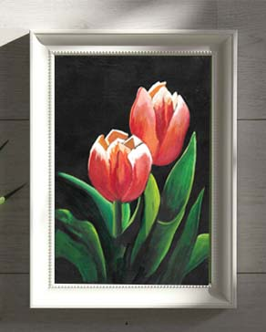 DESCRIPTION: Two Tulips Small