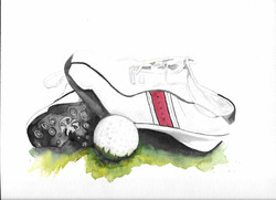 Golf Ball and Shoes