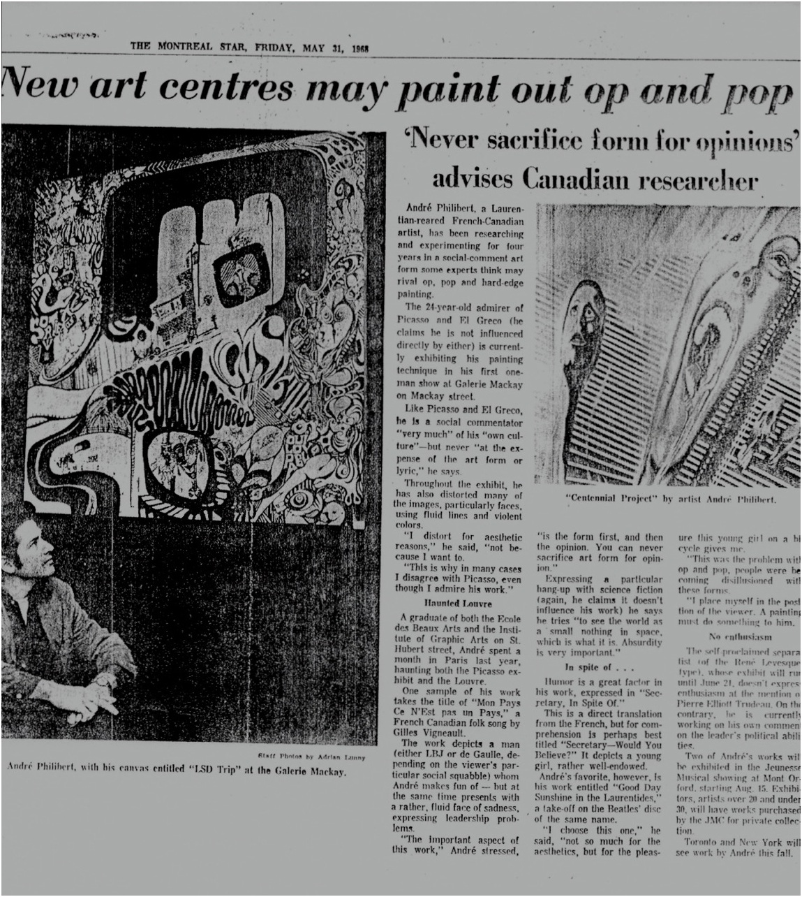 THE MONTREAL STAR 1968