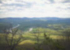 View above Veach Gap