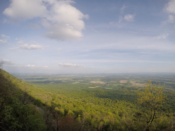 View from Flat Rock in Colonel Denning State Park