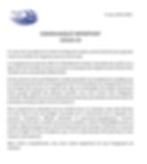 Mise à jour Ringuette Québec 2020-03-14