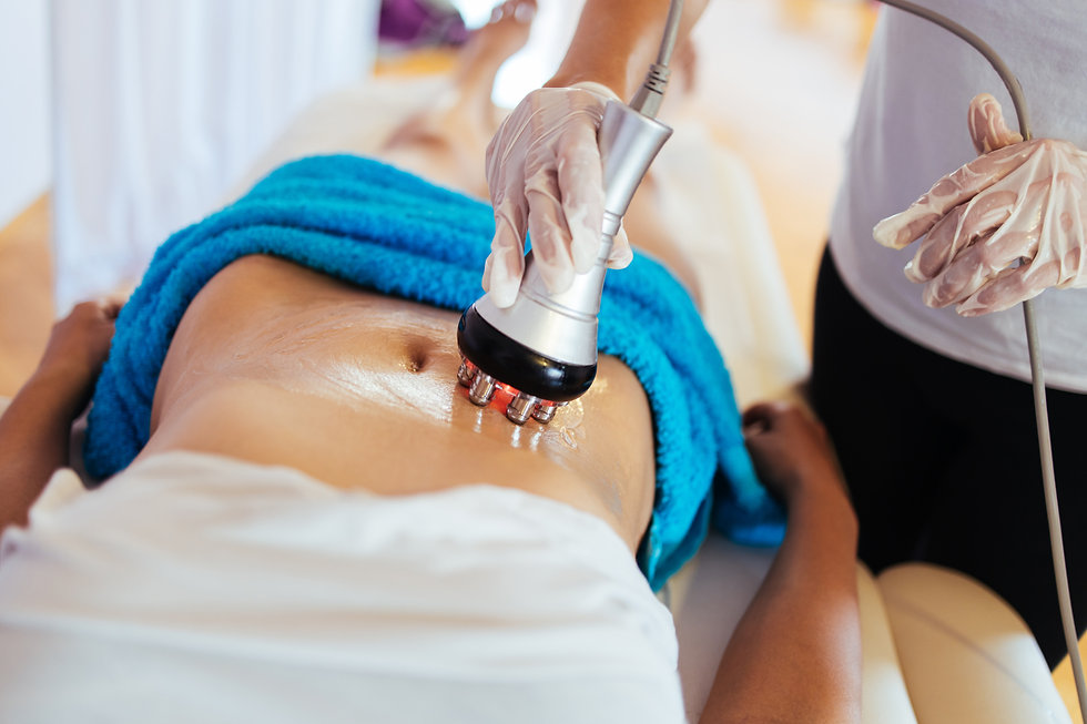 Cavitation RF body treatment and contemporary medicine for health beauty improvement and f