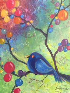 Blue Bird and Balls