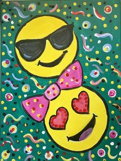 Cool and Heart Eyes Emoji