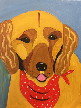 Dog Red Scarf